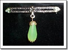 Jadeite Pendant Pin
