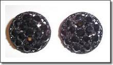 Weiss Earrings Black Clip-on