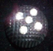 Buttons Black and Rhinestone Dome