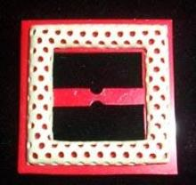Plastic Buckle Red and White Old