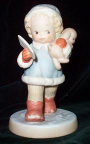 Mabel Lucie Attwell Christmas Figurine - I Hope Santa is Home