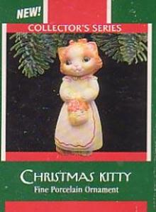 Hallmark Christmas Ornament - Christmas Kitty 1989