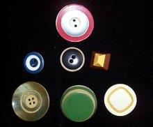 Lot of 7 Old Plastic Layered Buttons