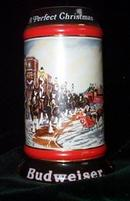 Budweiser Clydesdale Christmas Stein - A Perfect Christmas
