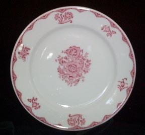 Restaurant Plate Sterling China Red Transfer