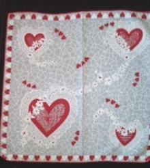 Handkerchief Valentine Cotton