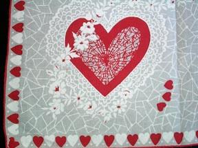 Handkerchief Valentine Cotton