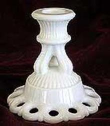 Westmoreland Doric Candle Holders Milk Glass