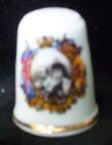 Thimble British Royalty King Edward VII and Queen Alexandra