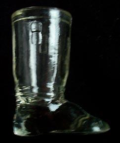 Candy Container Glass Boot