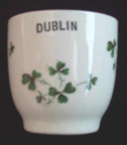 Carragaline  Pottery Dublin Souvenir Shamrock cup