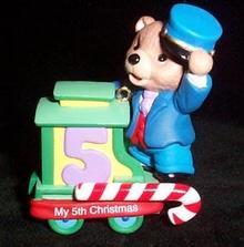 Christmas Ornament  Hallmark - Child's Fifth Christmas  2003
