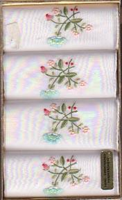 Handkerchiefs Boxed Hand Embroidered