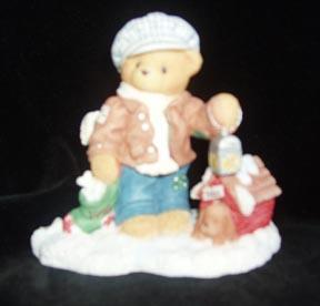 Cherished Teddies Christmas Figurine  - Rich