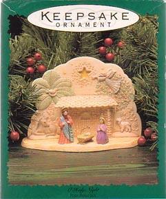 Hallmark Christmas Display/Ornament  Set - O Holy Night