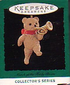 Hallmark Miniature Christmas  Ornament - March of the Teddy Bears
