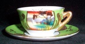 Miniature Porcelain Cup and Saucer