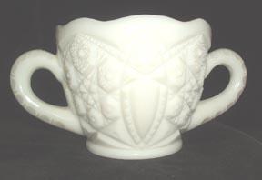 McKee Opaque White Open Sugar Bowl