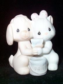 Precious Moments Members Only Figurine - True Blue Friends