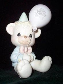 Precious Moments Charter Member Birthday Club Figurine  - Have a Beary Happy Birthday