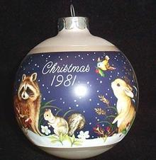 Hallmark Keepsake Ornament - Christmas in the Forest 1981