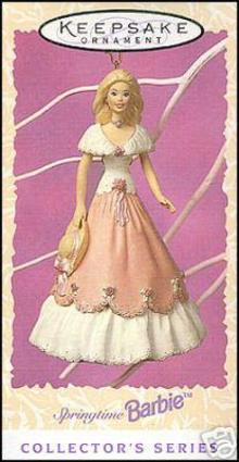 Springtime Barbie 1997 Hallmark Ornament