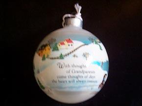 Hallmark Christmas Ornament - Grandparents 1982