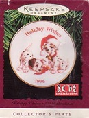 Hallmark Christmas Plate/Ornament -  101 Dalmatians
