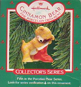 Hallmark Porcelain Christmas Ornament - Cinnamon Bear