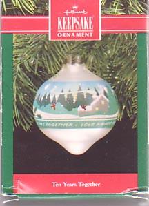 Hallmark Christmas Ornament - 10 Years Together