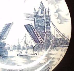 Tower Bridge  Plate Johnson Brothers