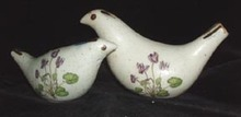 Stoneware Birds Salt and Pepper Shakers