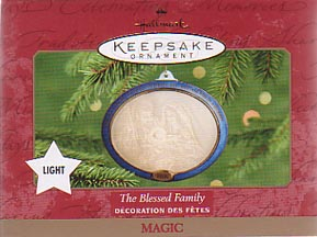 Hallmark Christmas Ornament - The Blessed Family 2000