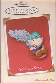 Hallmark Christmas Ornament - You're a Star 2002