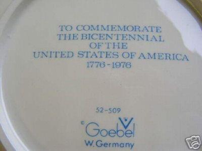Goebel Bald Eagle Bicentennial Plate