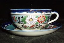 Lusterware Porcelain Cup and Saucer