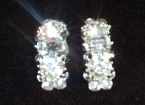 Lisner Rhinestone Clip Earrings