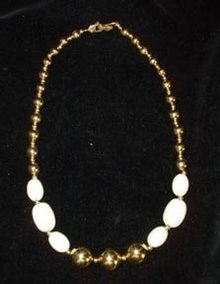 Napier Choker Cream and Gold