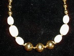 Napier Choker Cream and Gold