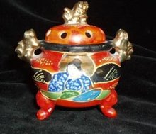 Japanese Foo Dog Incense Burner