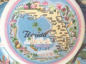 Souvenir Plate Florida