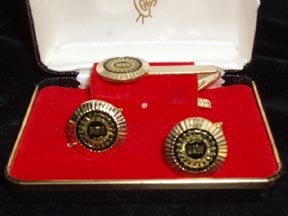 United Auto Workers Cuff Links and Tie Clip Set