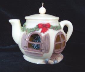 Teapot  Christmas Ornament