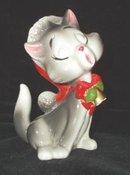 Cat Christmas  Figurine Lefton