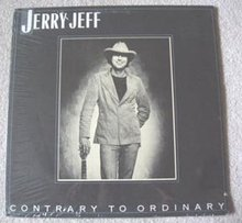 LP 33 1/3 Jerry Jeff Contrary to Ordinary