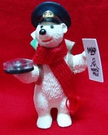 Hallmark Bear Polar Post Christmas Ornament