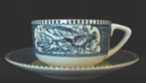 Currier & Ives Cup and Saucer Royal China