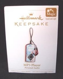 MP3 Player Christmas Ornament Hallmark