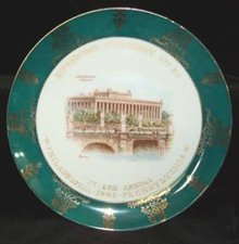 Plate Pittsburgh Commandery No. 1 K.T. 1903 German