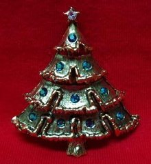 Christmas Tree Pin Weiss